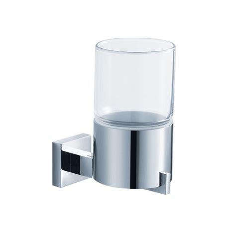 wall mounted bathroom accessories kraus aura bathroom accessories wall mounted glass tumbler holder the home depot