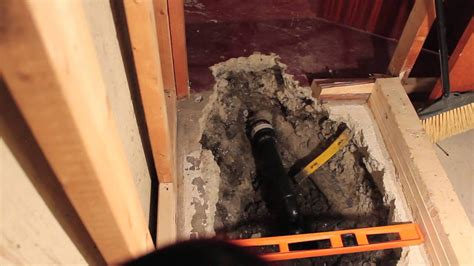 installing basement shower drain diy install new basement shower part 1 drain replacement