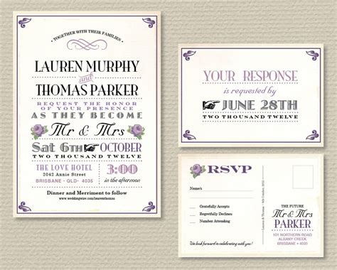 wedding rsvp layout printable wedding invitation rsvp vintage poster