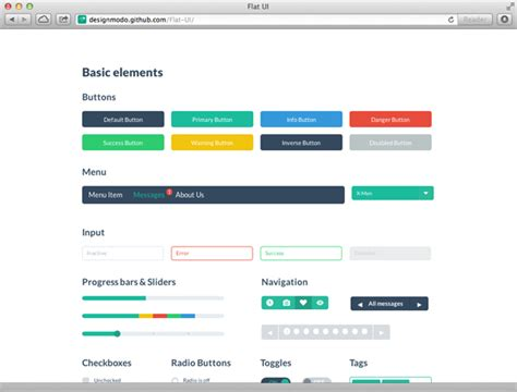 html design checkbox flat ui free psd html user interface kit buttons