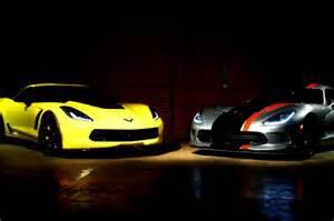 Dodge Corvette Dodge Viper Acr And Chevrolet Corvette Z06 On