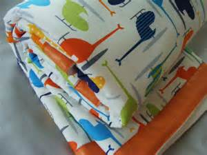 Helicopter Baby Bedding Sets Organic Baby Boys Bedding Blanket Quilt By Thepincushionstore