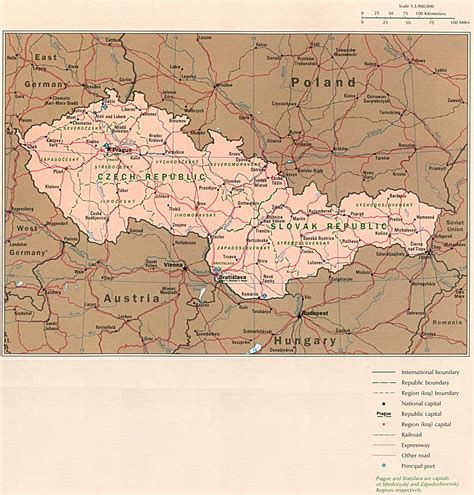 czechoslovakia map 1up travel maps of republic country map 577k