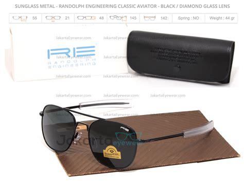 Kacamata Randolph Gold Black Lens sale sunglass metal randolph engineering classic aviator