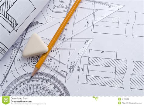 technical drawing free up of engineering drawing stock image image 12171419