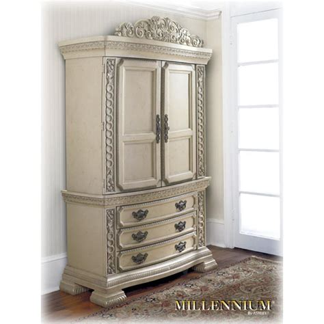antique white armoire b608 49t ashley furniture armoire top antique white finish