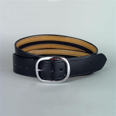 plain leather money belt width 1 1 2 quot leathersmith