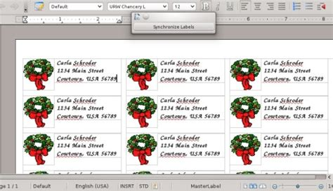 christmas address labels free