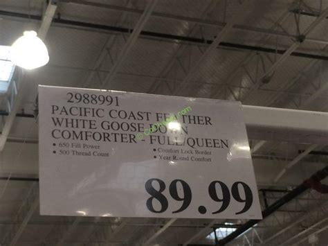 pacific coast comforter costco costco 2988991 pacific coast feather white goose down