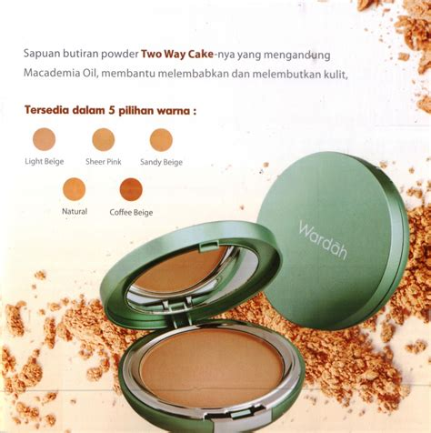 Bedak Wardah wardah kosmetik exclusive two way cake