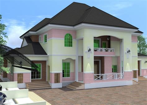 Architectural Designs For Nairalanders Who Want To Build 6 Bedroom Duplex House Plans In Nigeria