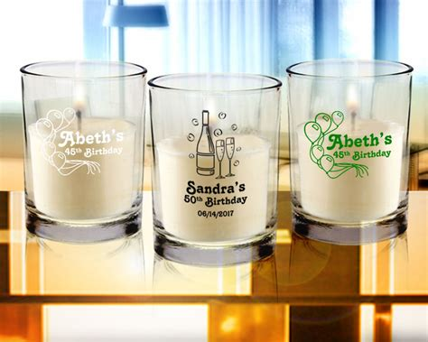 Personalized Giveaways For Birthday - birthday personalized candle favors clear glass