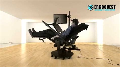all in one desk and chair zero gravity chair with laptop and 2nd monitor