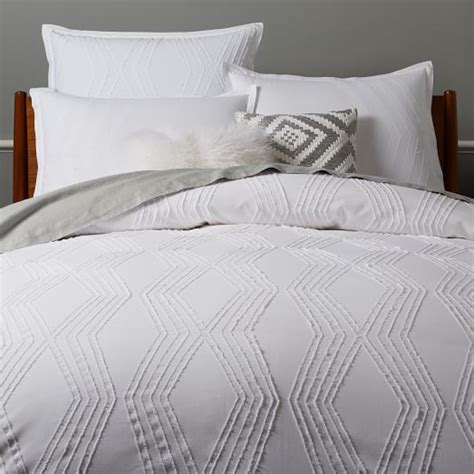 bettdecke textur roar rabbit zigzag texture duvet cover shams west elm