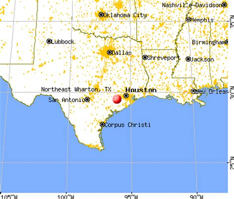 map of wharton texas northeast wharton texas tx 77435 profile population maps real estate averages homes