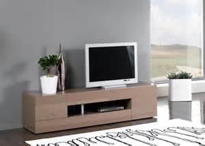 meuble tv design 2 portes 2 tiroirs laqu 233 taupe melvie
