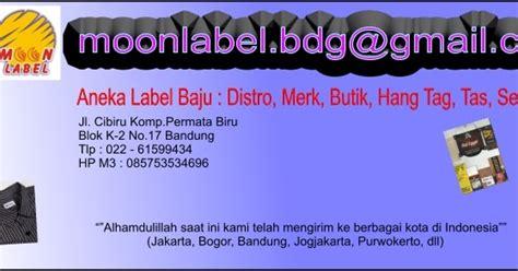 Label Baju Bahan Pita Tafeta Ukuran 1 2 Inchi moon label aneka label baju dan kaos