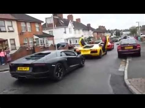 Wedding Car Song by Asian Wedding Car Convoy Lambo Audi R8
