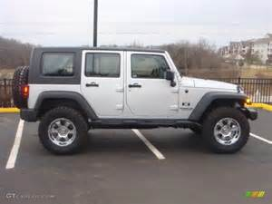 2008 bright silver metallic jeep wrangler unlimited x 4x4