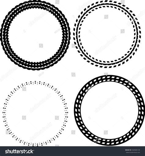 the images collection of vector round label victorian round vintage collection round decorative border frames set stock vector
