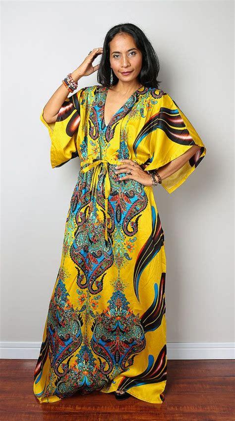 naija gini 2015 female caftan styles bohemian dress yellow caftan long summer dress with