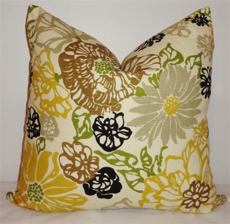 brown yellow pillows decorative pillow black yellow brown richloom by homeliving
