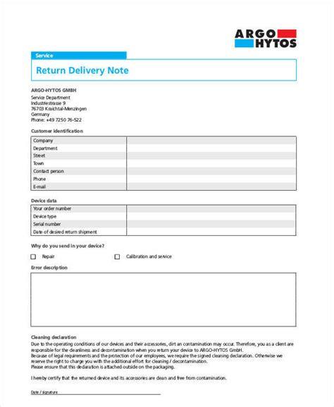 delivery note templates 10 delivery note templates exles in word pdf