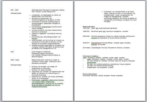 Cv Template Vdab Voorbeeld Resume Cv