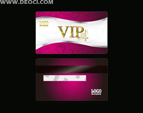 vip card template vip fashion design template ai file deoci