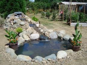 backyard pond ideas with waterfall pool design ideas