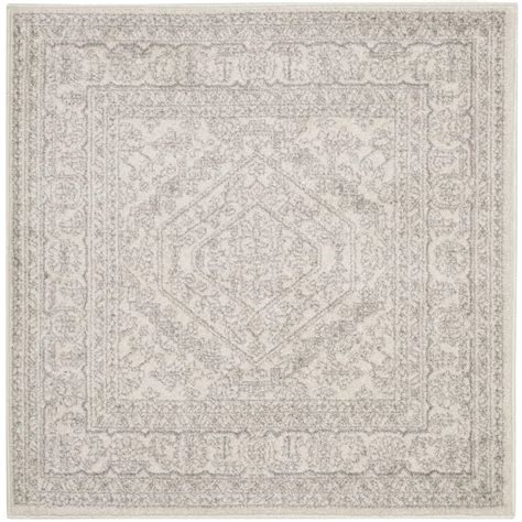 10 Square Area Rugs Safavieh Adirondack Ivory Silver 10 Ft X 10 Ft Square Area Rug Adr108b 10sq The Home Depot