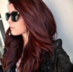 burgundy brown hair color medium brown hair with burgundy highlights