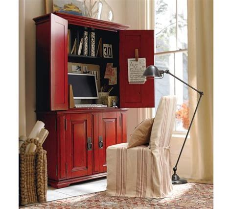 urban crossings computer armoire cton smart technology office armoire desa ming red