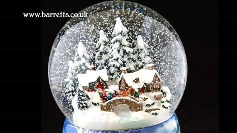 winter scene snow globes german musical snow globes from barretts winter