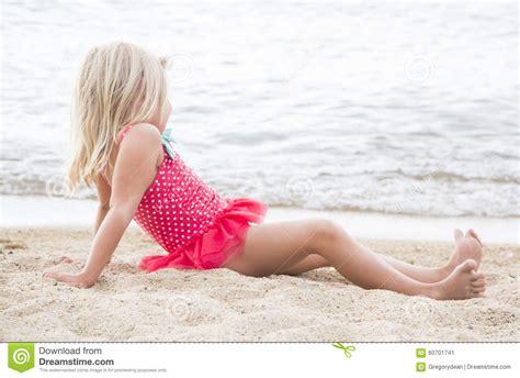 little girl models beach little girl sunbathing on the beach stock image image
