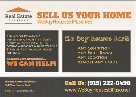 we buy your house in 7 days we buy houses el paso we buy houses fast