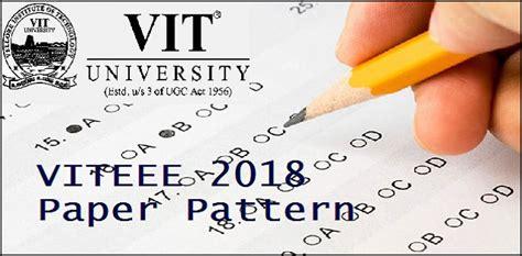 paper pattern of viteee paper pattern of viteee 2018 engineering