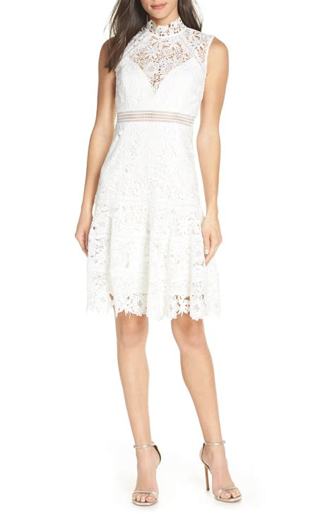 bardot elise lace cocktail dress in ivory modesens