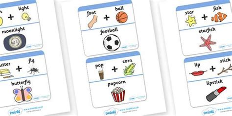 printable compound word matching games free printable compound word matching game