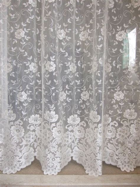 ivory lace curtains lace curtain ivory lace curtain panel with variegated hem