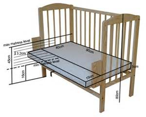 new co sleeper bedside cot wooden bed crib beech mattress