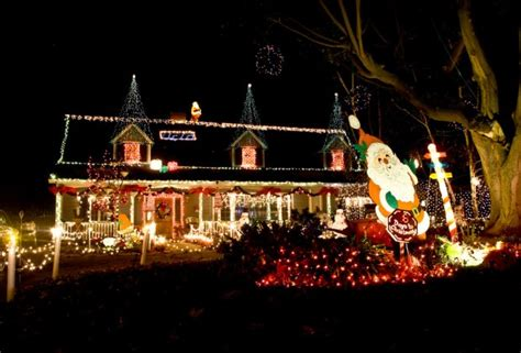 christmas light displays and home holiday decorations