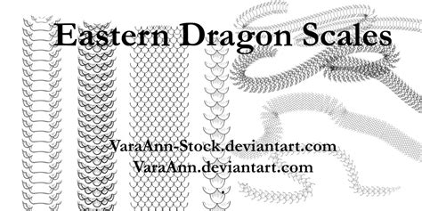 pattern brush scale eastern dragon scales brushes by varaann stock on deviantart