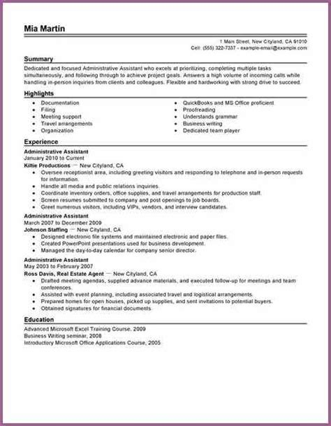 Resume Skills For Office Administrative Assistant Resume Skills Designproposalexle