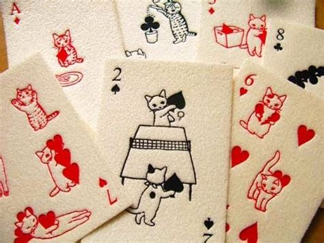 Cat Gift Card - cats playing cards art pinterest