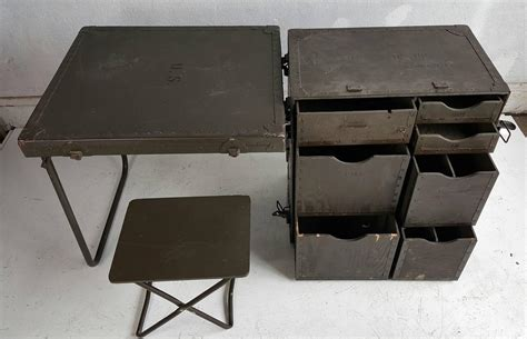 Army Desk by Industrial Army Issue Portable Desk At 1stdibs