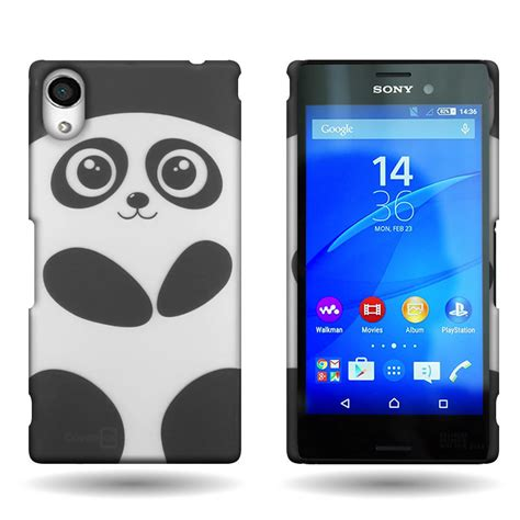 Casing Xperia M4 Aqua Black Design Custom Hardcase Cover phone for sony xperia m4 aqua panda design slim back cover ebay