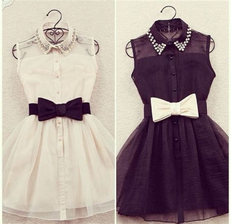 dress black dress white dress black white