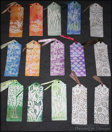 Handmade Bookmarks Designs - bookmarks 187 phoenixfire designs the