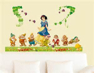 snow white wall stickers snow white amp the 7 dwarfs wall decal by thebubblyballerina